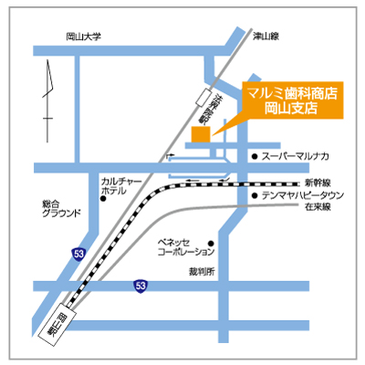 map_マルミ岡山支店
